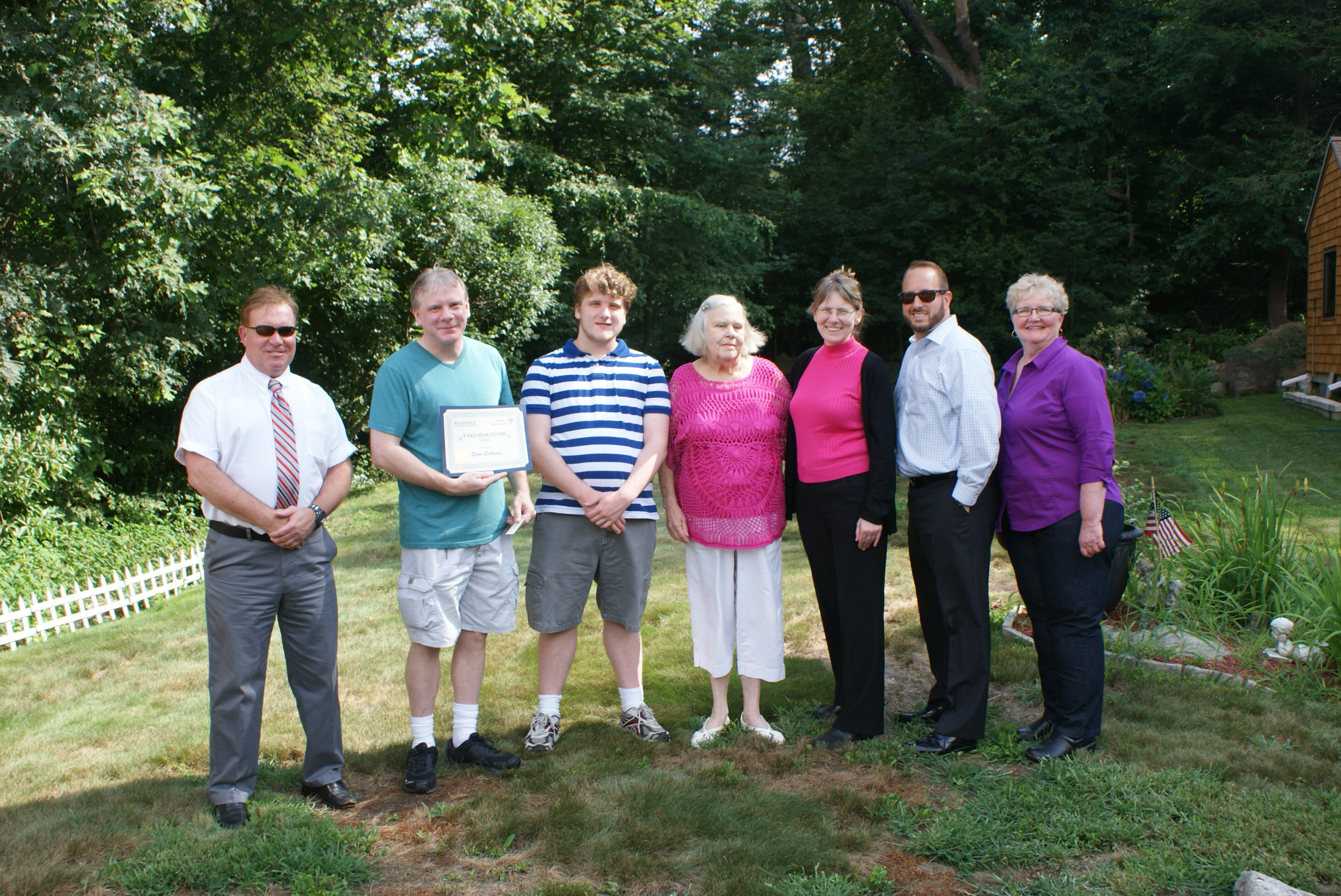 Randolph Savings Bank Presents Certificate to Mortgage Campaign Winner